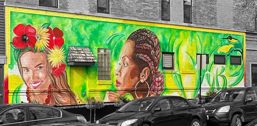 """POZITIVYBZ"" by Roho Garcia, Ukrainian Village, Chicago (2019)"